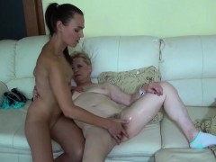 Oldnanny Granny And Teen Lesbian Toysex
