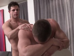 Hunk Barebacked While Jerking His Cock