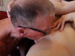 Young Secretary Fucks Old Cock Blowjob Mouth Cumshot