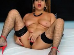big-breasted-milf-in-stockings-drills-her-tight-holes-on-th