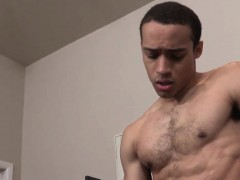 Bigcock Ebony Masturbates Under The Shower