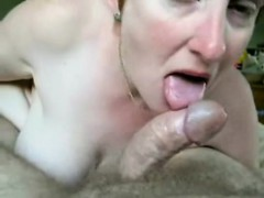 Cheating Girlfriend That Is Blonde Sucks Hard Fat Penis In