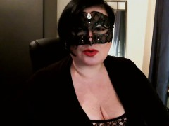 masked-brunette-cougar-in-fishnets-exposes-her-curves-on-th