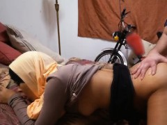 Arab In Head Scarf Getting Fucked In The Bedroom