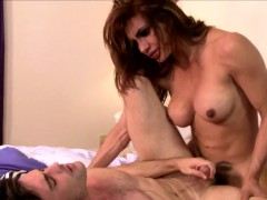 Stunning Tranny Plowing Lucky Guys Asshole