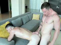 Markie More Bends Johnny Over And Fucks Him Raw From Behind