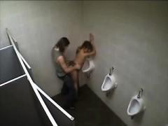 Amateur Havin Fuck In Toilet That Is Public