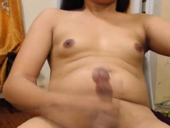 Asian Masturbating While Rubbing Her Asshole