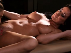two-lusty-women-enjoyed-pussy-licking-on-massage-table