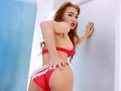 Cute Redhead Tranny Proud Is Ready For Some Solo Pleasuring