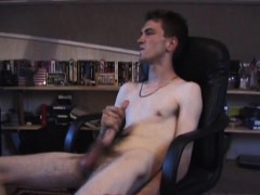 Damon Jerks Off With Sex Toy