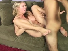 Hot Blonde With Big Natural Tits Spreads Her Legs For A Raging Stick