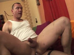 Busty Tranny Sandy Bangs Hot Stud In Various Sex Poses