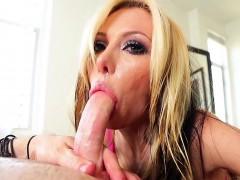 slut gives fetish blowjob