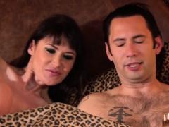analized busty babe enjoys deepthroat session