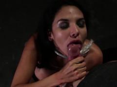 Sub Misty Martinez Dominated With Deepthroat
