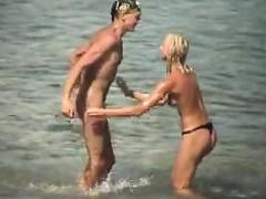 Voyeur. Great Knockers On Beach