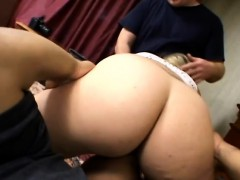Pregnant Babe Takes Two Throbbing Cocks In Bedroom