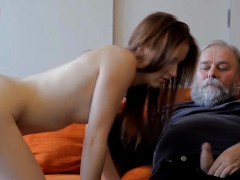 Horny Young Sweetie Likes Each Inch Of Old Weenie In Pussy
