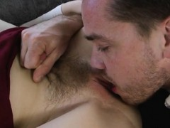Chick With Bushy Cunt Maya Kendrick Gets It Licked