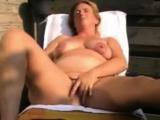 Backyard masturbation Dutch Milf Judith
