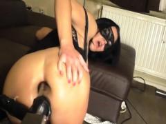 Squirting Orgasmus Bei Doppelpenetration Mit Fickmaschine