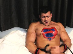 Latex Superman Chained And Defeated Into Cum