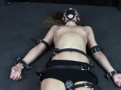 Strapped Down And Climaxing