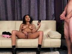 british ebony voyeur teases while giving joi xxx.harem.pt
