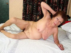 Chubby Granny With Toys Then A Real Cock