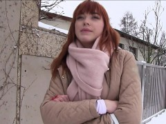 redhead-flashing-tits-to-agent-outdoor