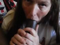 Mature Stocking Brit Lady Sonia Interracial Blowjob