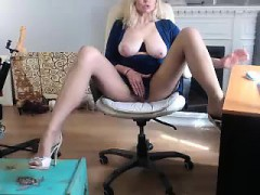 Sexy Blonde With Big Boobs Riding A Dick