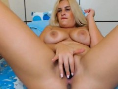 Busty Tattooed German Blonde Milf Toying Dp