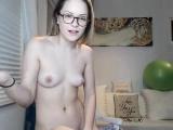 Small boobs blonde Chloe Lynn masturbates solo