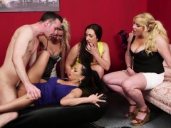 british-cfnm-milfs-dominate-sub-dick-in-group