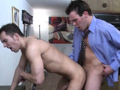 His 1st Day At The Office And Already Ass Drilled Twice