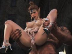 3d Orcs Fucking A Busty Elf!