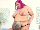 Plumper Slams Her Pussy Down on a Cock