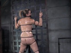 Oiled Slut Bonded And Caned Before Nt