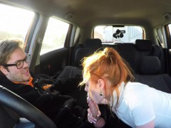 fake driving school sweet redhead ella hughes fucks