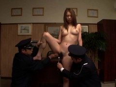 Uncensored JAV CMNF prisoner anal inspection Subtitled
