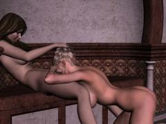 Lesbian Couple Enjoy Sensual Fun