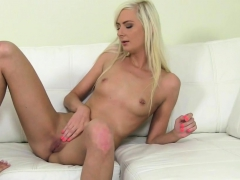 Blonde Client Eats Busty Casting Agents Pussy