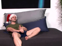 Handsome Gay Hunk Mathias Strokes His Giant Schlong Solo