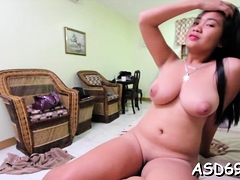 voluptuous oriental sex doll boasts of her rod fucking skills