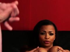 black-british-voyeur-teases-sub-with-her-tits