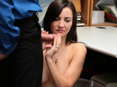 Teen Thief With Big Natural Tits Busted By Security