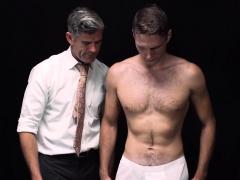 Gay Mormon Cums Tugging