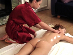 Zadova Ginger Haired Teen Being Oil Massaged